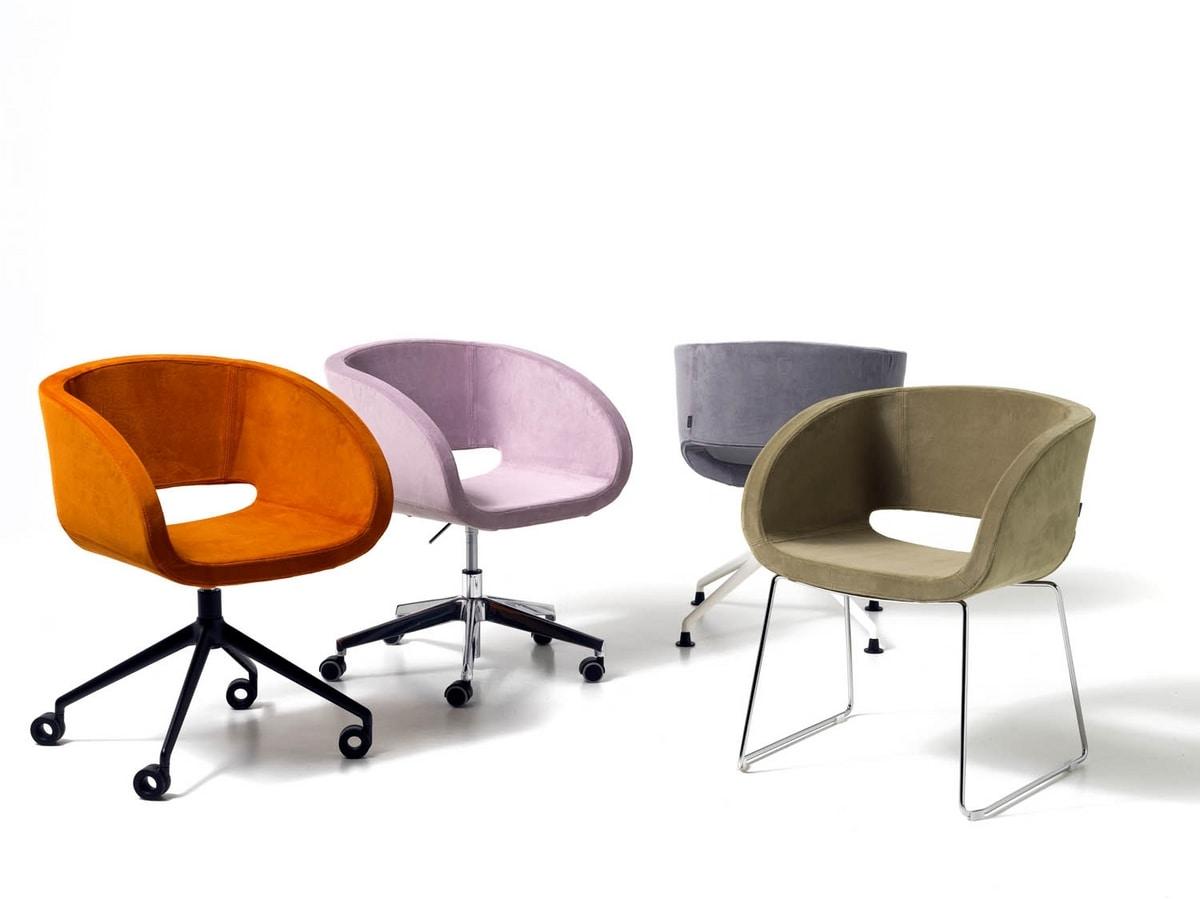Vanity, Chaise pour salle de réunion, ascenseur de gaz, base en aluminium