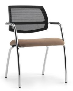 Air One Soft 04, Chaise moderne avec dossier maille, pour les conventions