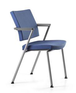 AVIAMID 3419, Chaise de bureau opérationnel, rembourrés, avec accoudoirs