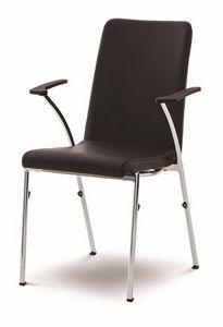 Evosa Congress 08/4A, Chaise très léger avec base en métal, avec un système de couplage, pour les réunions et conférences