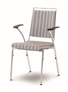 Evosa Congress 08/5A, Chaise en métal empilable, produit en CE, le dos souple, et les salles de conférence