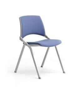 Key-Ok, Chaise avec siège pliant pour salles de conférence et de réunion