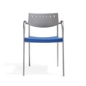 Klic, Chaise en métal, empilable, pour la conférence et salle de réunion