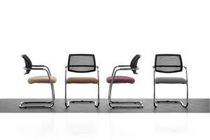 Samba AIR 01, Chaise visiteur avec dossier résille, pour salle de réunion