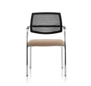 Samba Air 02, Chaise avec 4 pieds en m�tal chrom�, r�sille