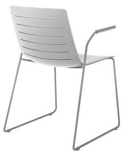 Slim 02A, Chaise avec bras idéale pour les salles de conférence et des salles de réunion