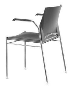 TREK 036, Chaise empilable en métal et polymère, avec les bras