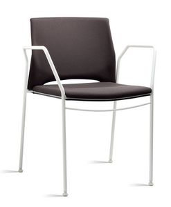 TREK 038 Z, Chaise avec accoudoirs en métal et de polymère, en différentes couleurs
