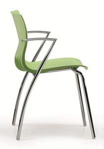 WEBBY 334, Chaise empilable avec coque en nylon, en différentes couleurs