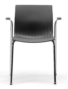 WEBBY 338, Chaise avec accoudoirs, coque en plastique, pour les conférences