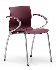 WEBBY 339, Chaise en métal avec coque en nylon, en différentes couleurs