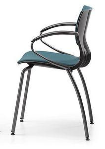 WEBBY 339 S, Nylon et chaise en métal, assise, pour la conférence