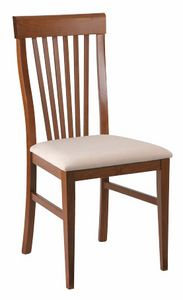 312, Chaise de salle à manger avec dossier à lattes verticales