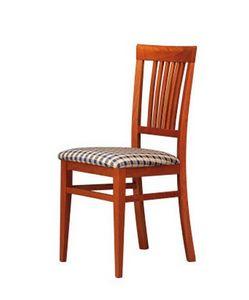 316, Chaise rembourrée avec dos en bois, pour les bars et les hôtels