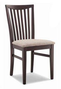 Anna, Chaise en bois, avec assise rembourrée