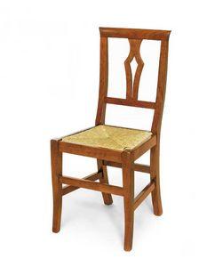 Art.104, Chaise en bois avec assise en paille