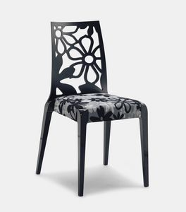 Art. 152, Chaises en bois, avec des fleurs texture dossier