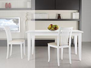 Compléments Chaise 08, Chaise en bois avec assise et dossier rembourrés avec des lattes verticales