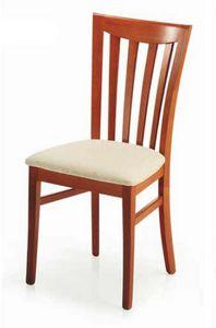Demetra, Chaise avec assise rembourrée, pour salle à manger
