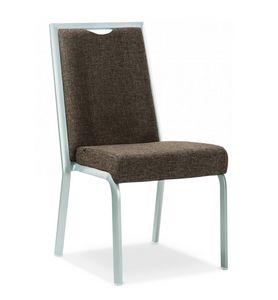 Simbia, Chaise rembourrée empilable pour banquets et restaurants