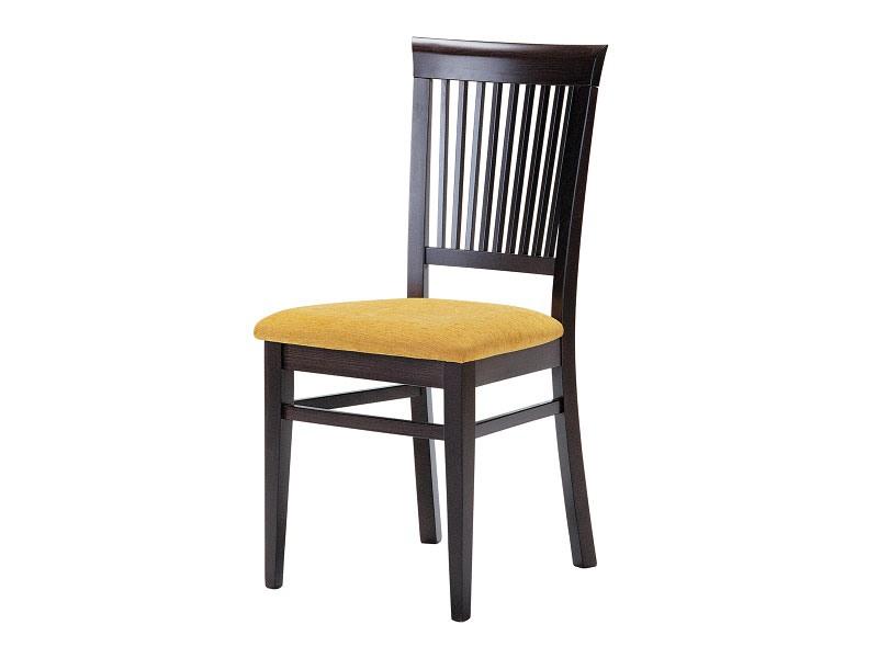 Sirast, Chaise pour salle à manger, en bois avec assise rembourrée