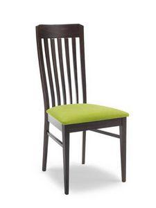 Vanessa V, Chaise moderne avec dossier haut, en bois massif