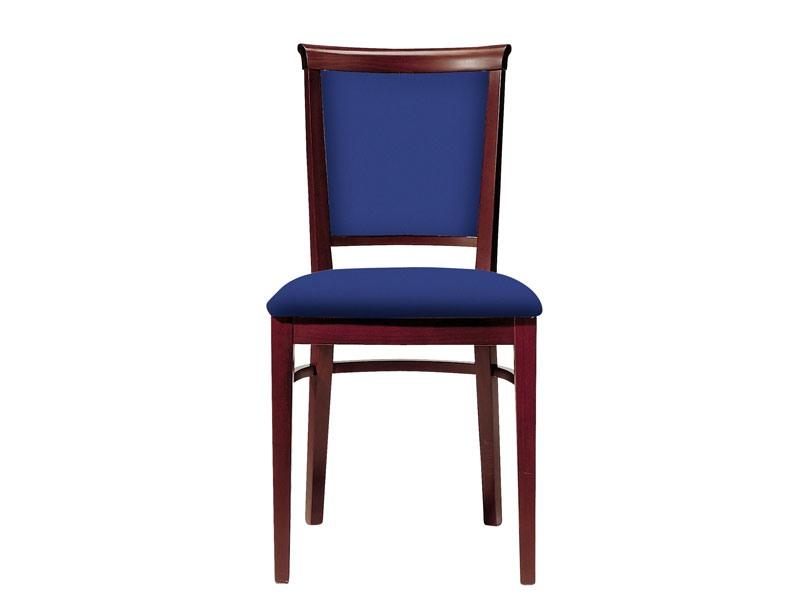 063 3/4, Chaise en bois pour les salles à manger, assise et dossier