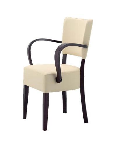 302, Chaise en bois avec assise et dossier rembourrés