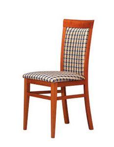 312, Rembourrée chaise en bois, simple et robuste, pour les bars