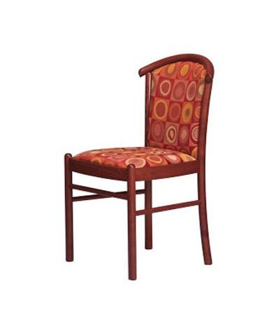407, Chaise rembourrée, en bois de hêtre, pour salle de conférence