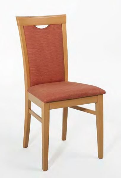 Anna, Chaise avec structure en bois, rembourré, avec poignée