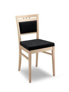 Anna I, Chaise moderne rembourrée, en bois, pour les hôtels