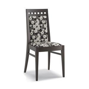 Art. 105, Chaise en bois, haut dossier, pour le salon