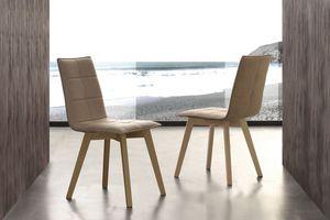 Art. 132 Italy, Chaise rembourrée avec tissu peachskin, pour salle à manger