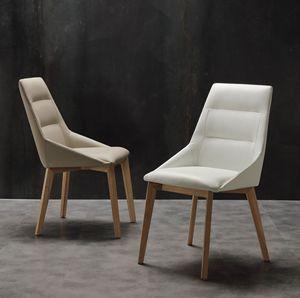 Art. 246 Europa, Chaise élégante en éco-cuir, pour salle à manger