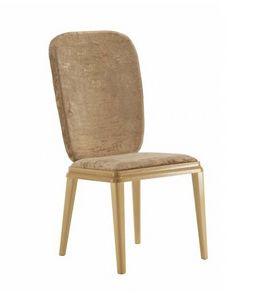 Art. VL140, Chaise rembourrée en bois pour les salles à manger