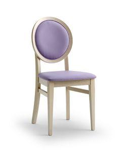 BELLAMIE.2, Chaise avec dossier médaillon rembourré