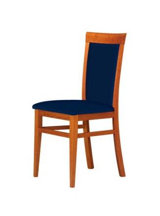 C07, Chaise avec structure en hêtre, assise et dossier rembourrés