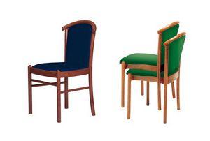 C09 STK, Chaise avec structure en bois massif, pour les cantines