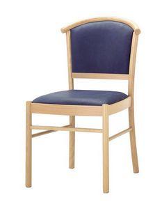 C10, Chaise en bois, assise rembourrée et à l'arrière, pour l'usage de contrat