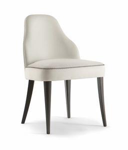 CHICAGO SIDE CHAIR 015 S, Chaise rembourrée avec pieds en bois