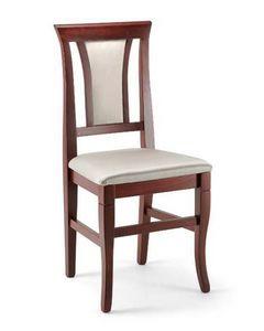Cleo, Salle à manger chaise en bois de hêtre, rembourrée, élégant