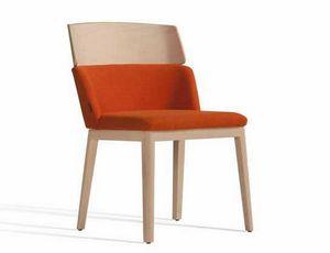 Concord 522WM, Chaise en bois rembourrée, pour le marché de l'hôtellerie et de l'hôtellerie