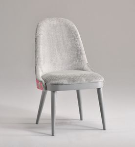 DALIA chaise 8777S, Chaise rembourrée, avec des lignes épurées