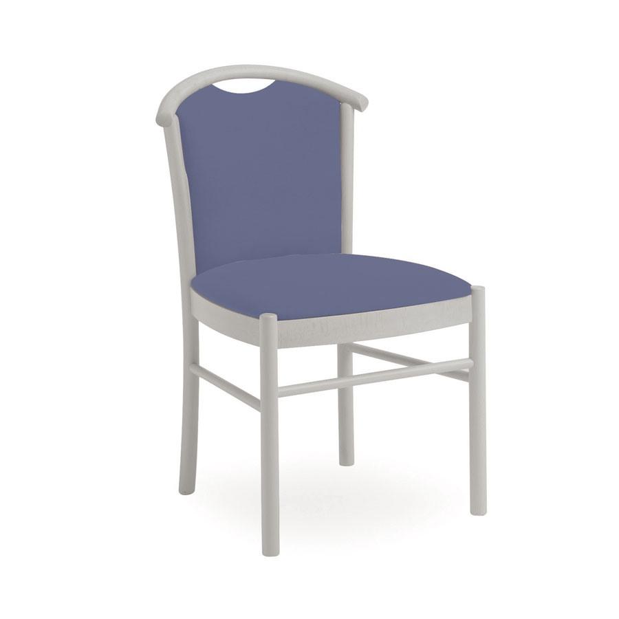 Dolly L1060 M, Chaise en bois rembourrée, avec poignée, pour le restaurant