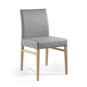 Eva, Chaise rembourrée, rembourrés en cuir, pour la salle à manger