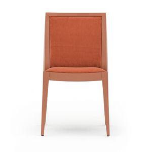 Flame 02111, Président en bois massif, assise et dossier rembourrés, revêtement en tissu, style moderne