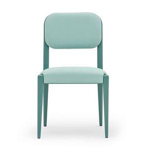 Garbo 03111, Chaise rembourrée en bois massif, avec siège ceinturé