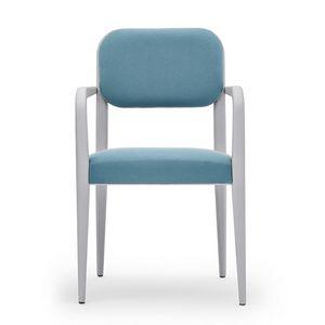 Garbo 03121, Chaise avec accoudoirs, en bois, avec éléments arrondis