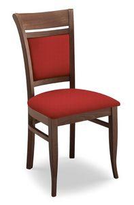 Gloria I, Chaise rembourrée, en bois de hêtre, diverses finitions